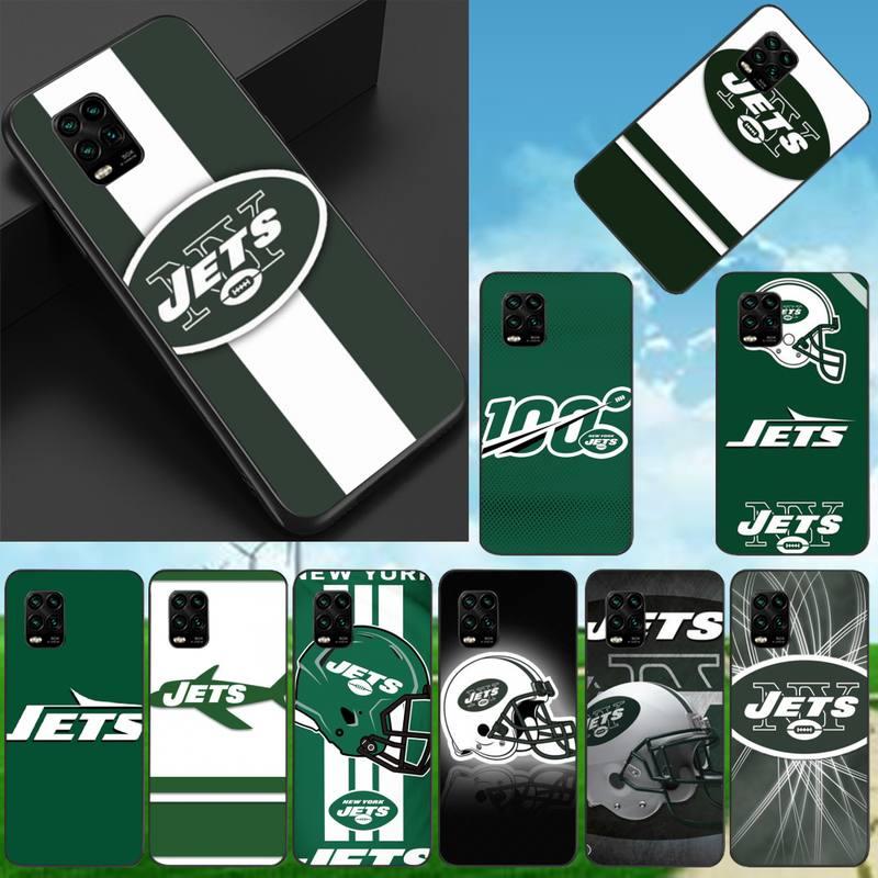 Los Jets de Nueva York negro TPU funda de teléfono para Xiaomi...