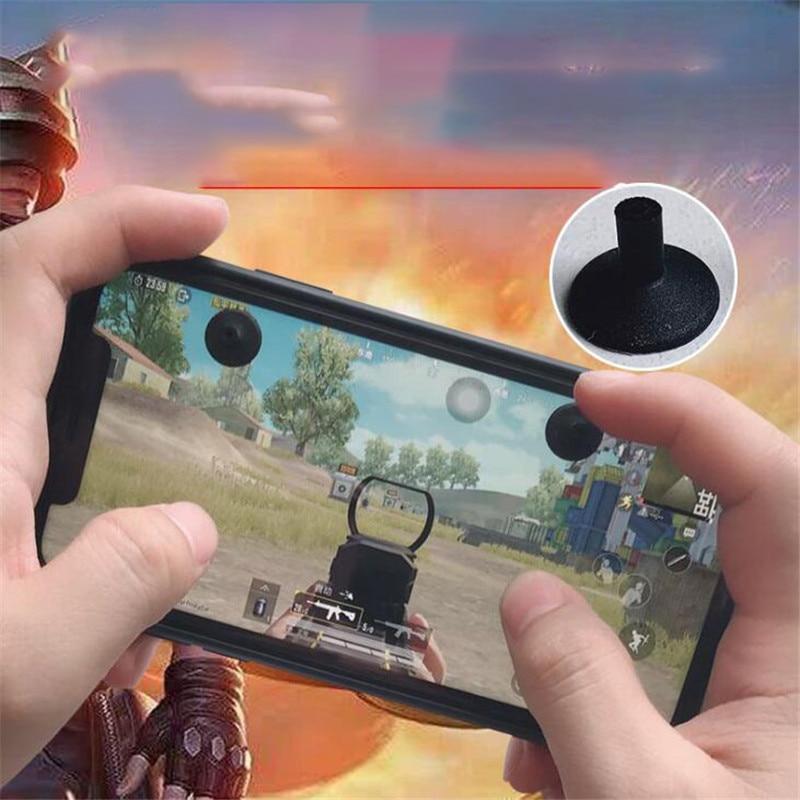 Four Finger Suction Touch Button Joystick PUBG Controller Eat Chicken Artifact Peace Elite Battlefield Mobile Game Rocker 2PCS general mobile games joystick touch screen rocker controller