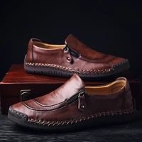 men casual shoes loafers flat comfortable leather chaussures plates work zapatos caballero buty robocze meskie scarpe schuhe