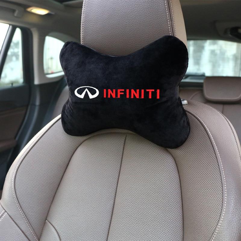 Almohada de cuello para coche, franela de algodón para reposacabezas de asiento de coche, cojín para el reposacabezas, accesorios para coche Infiniti FX35 Q50 Q30 ESQ QX50 QX60