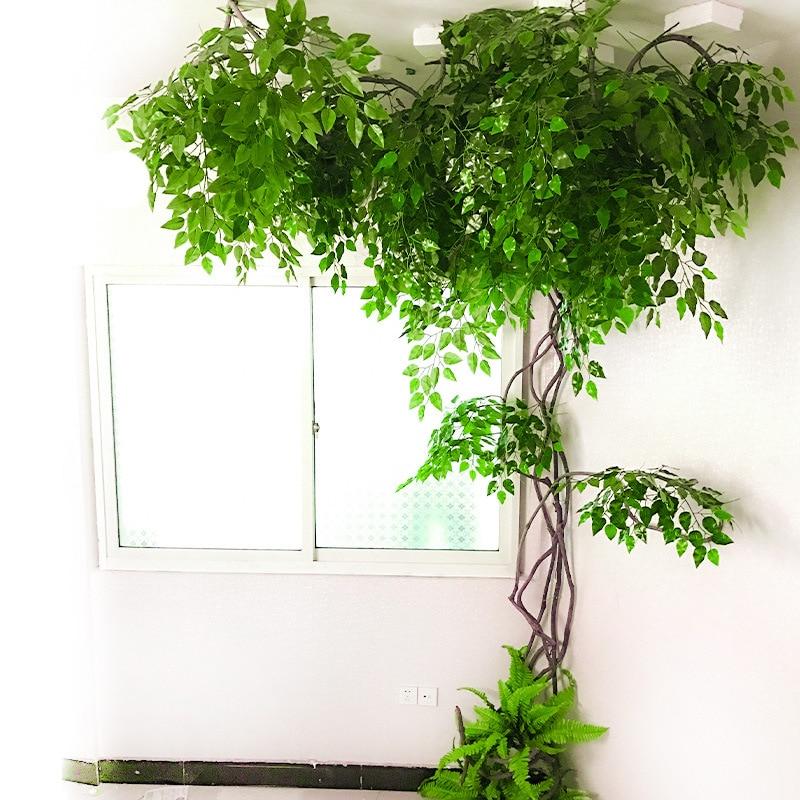 Artificial Green Plants Winding Vine Indoor Vine False Banyan Tree Branch Vine Living Room Family Office Wedding Decoration
