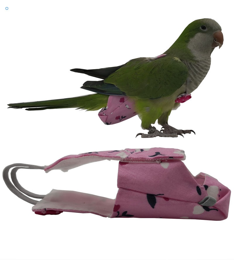 Bird clothes feces pockets diapers rope can fly with Xuanfeng Little Golden Sun Monk Myna Bird Grackle Parrot Oriole Grey Magp