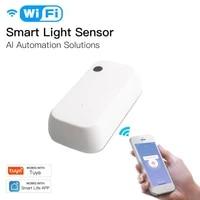 Capteur de lumiere intelligent Tuya Wifi  detecteur de luminosite  lien  capteur de controle de vie intelligent  fonctionne avec alexe Google Home