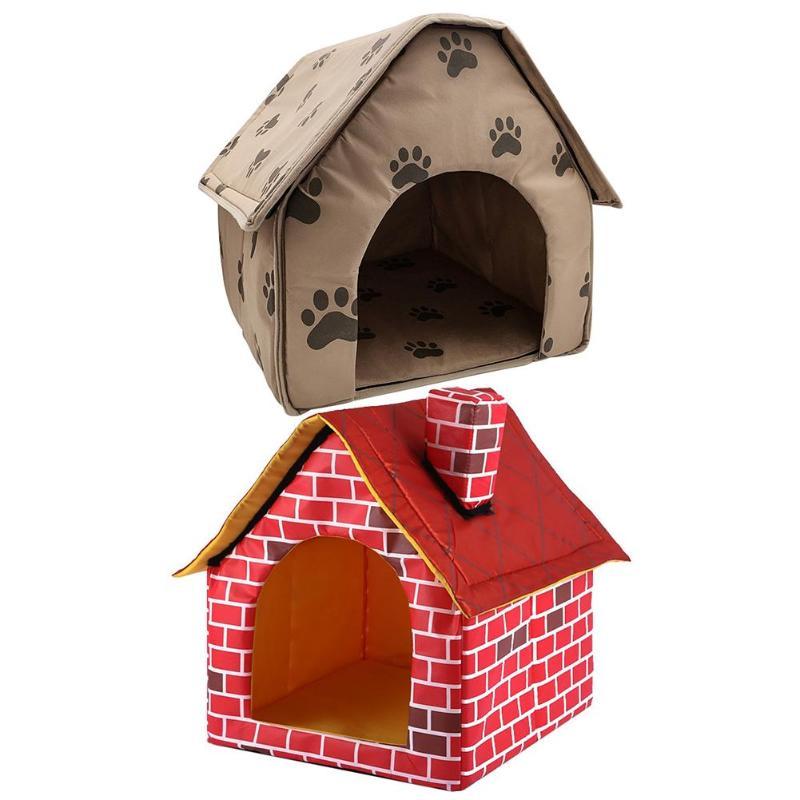 Perro cama plegable, casa de perro pequeña huella tienda-cama para mascota gato Perrera de interior y al aire libre de viaje portátil conveniente suministros