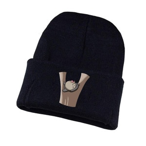 Anime Chinchilla Lanigera Knitted Hat Cosplay Hat Unisex Print Adult Casual Cotton Hat Teenagers Winter Knitted Cap