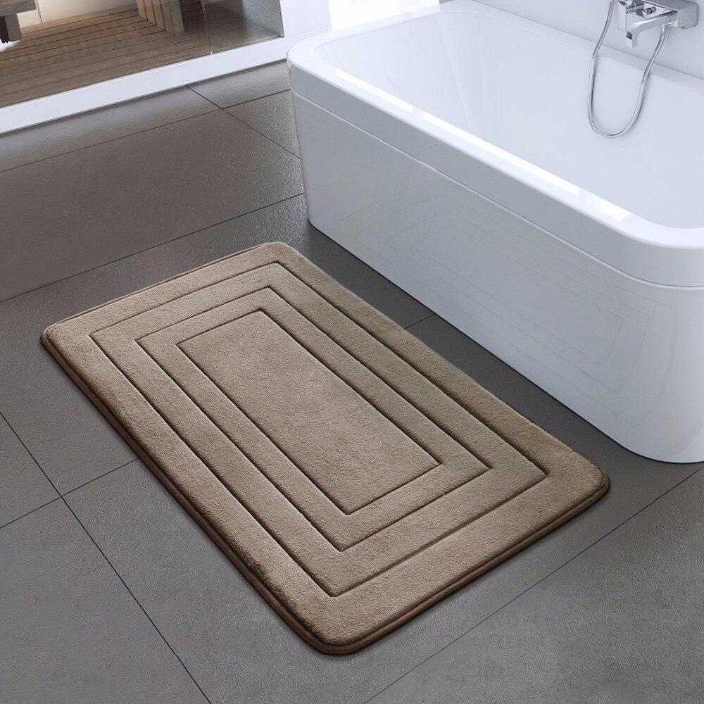 سجادة حمام غير قابلة للانزلاق قابلة للغسل في الغسالة ، سجادة ماصة للحمام ، ديكور أرضي للمطبخ والمعيشة ، 40 × 60 50 × 80 سم