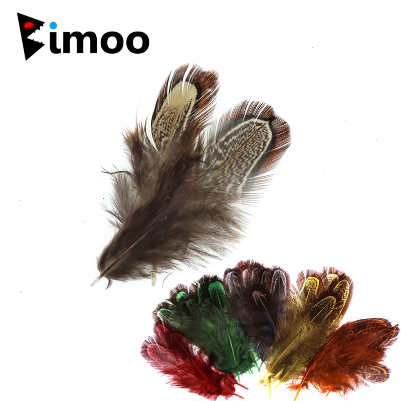 Bimoo 100 unids/pack volar atando Partridge de Caddis Fly alas de Hackle mojada vuela agua salada ganchos agudos atar materiales