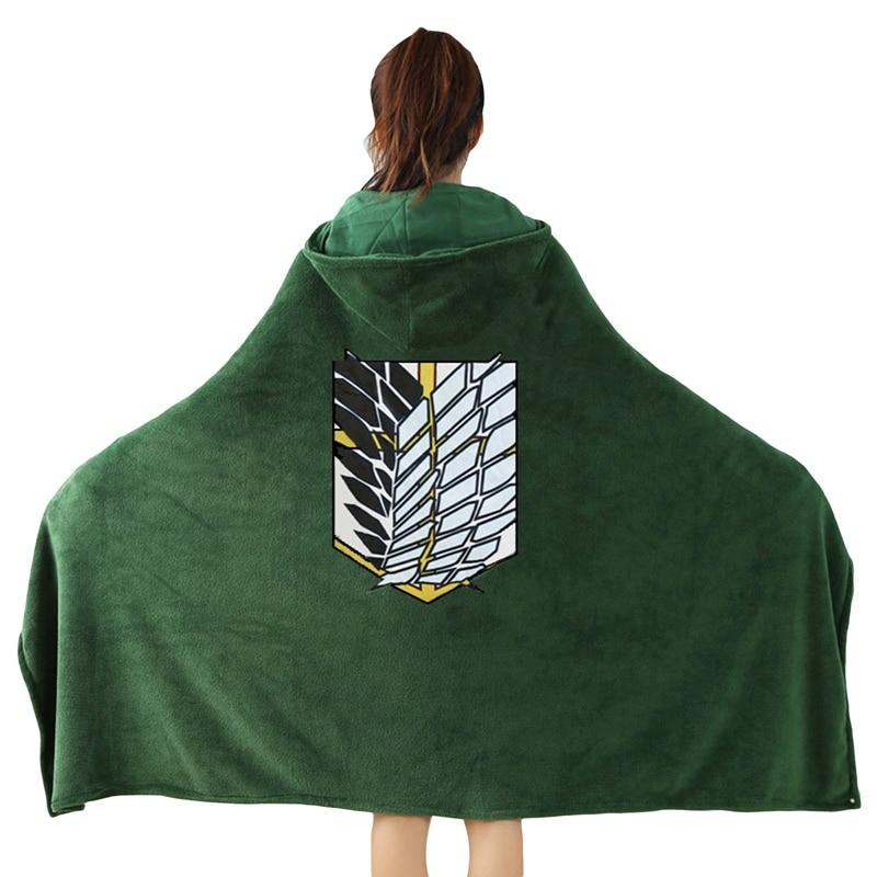 Anime Attack On Titan Blanket Cloak Cosplay Cloak Investigation Corps Captain Houseman Shawl Cloak C