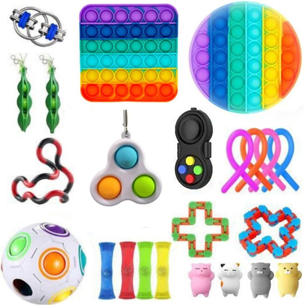 Free transportation Fidget Toys Sensory Toy Set Antistress Relief Autism Anxiety Anti Stress Bubble for Kids Adults enlarge