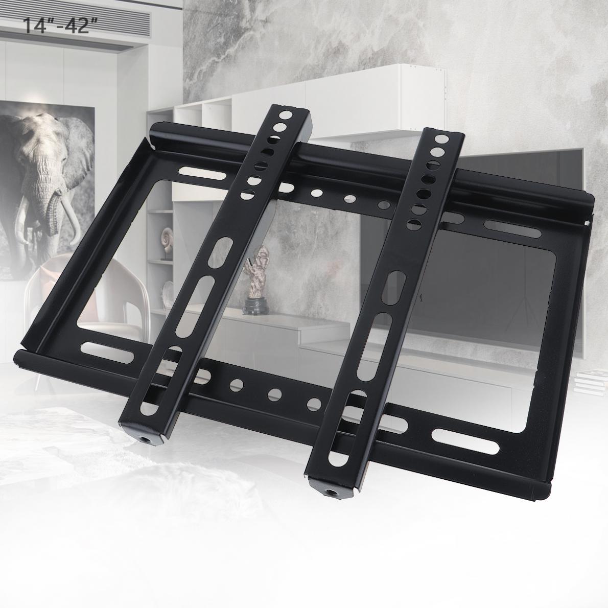Soporte de montaje en pared para TV, marco de TV Delgado Universal de 25KG con gradiente para Monitor LCD LED de 14 - 42 pulgadas