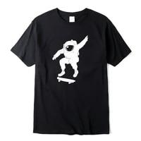 mens t shirt 100 cotton astronaut play the skateboard print o neck short sleeve designs men t shirt casual summer loose tshirt