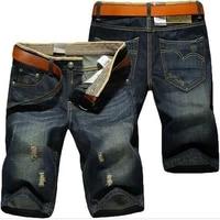 denim shorts mens ripped retro pants straight leg shorts mens five point pants men jeans ripped jeans cargo pants men