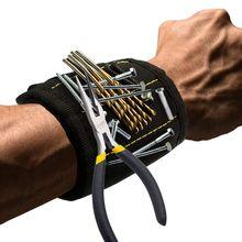 Bracelet magnétique avec filets forts bricolage hommes cadeaux pour vis clous boulons forets attaches ciseaux et autres outils pratiques