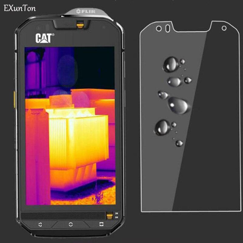 EXUNTON 2 uds para Caterpillar Cat S60 S61 S41 9H dureza 2.5D PremiumTempered vidrio Protector de pantalla película protectora nuevo modelo