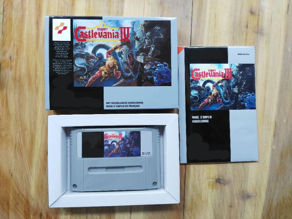 ألعاب سوبر كاستليانيا 4 ، 16 بت ، النسخة الفرنسية ، بال! صندوق + يدوي + خرطوشة!!)