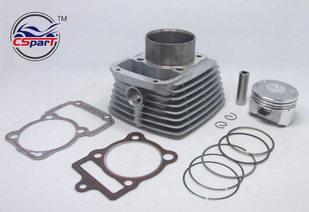 Kit de joint danneau de Piston de cylindre de 67mm Air 250CC Zongshen Shineray Bashan Taotao ATV vélo de saleté vtt Quad
