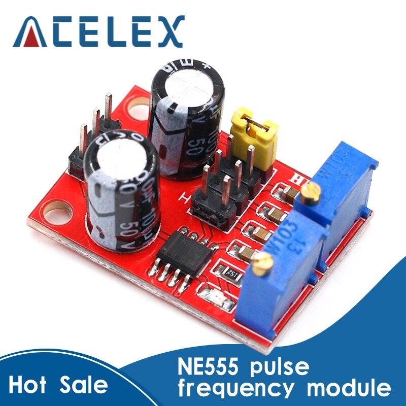 Frecuencia de pulso NE555, módulo ajustable de ciclo de trabajo, generador de señal de onda cuadrado/rectangular, controlador de motor paso a paso
