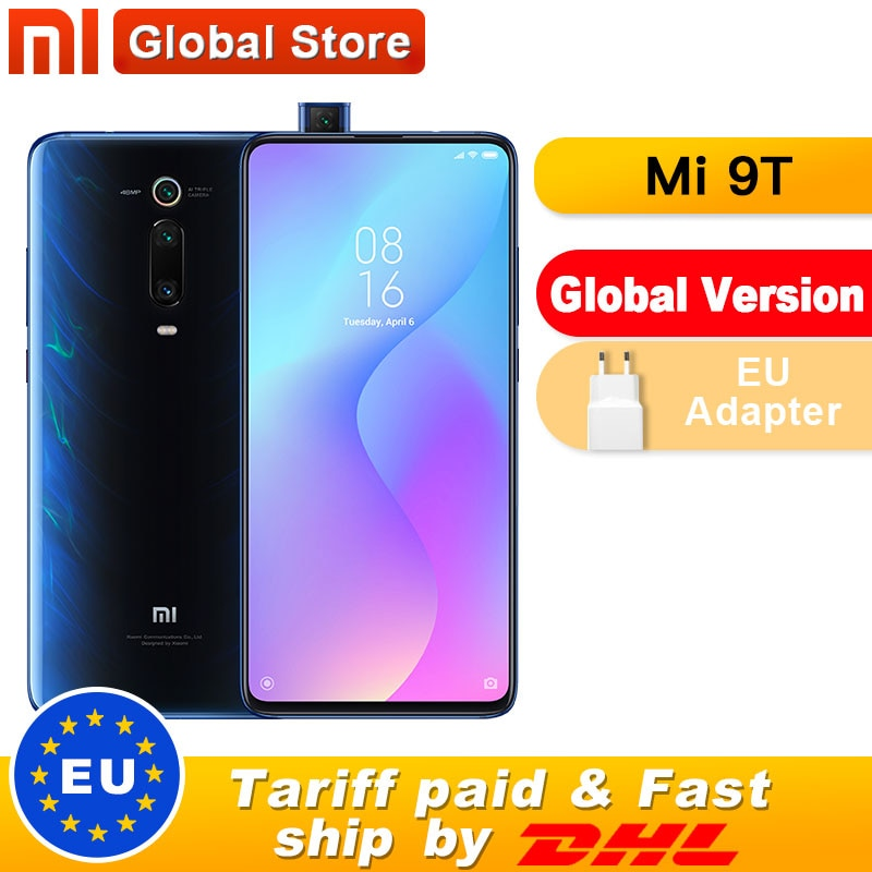 "Spain Overseas Global Version Xiaomi Mi 9T 6GB 128GB Smartphone Snapdragon 730 Pop-up Front Camera NFC 6.39"" 48MP"
