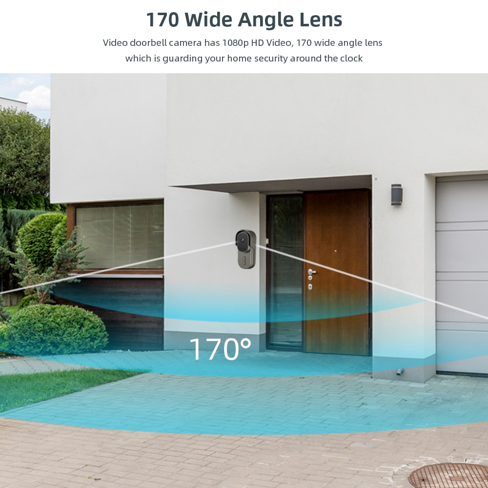 Tuya Smart Video Doorbell Battery Camera 1080P 170° 12-24V AC/DC Wired Door Bell Camera Two-Way Audio Works With Alexa Google enlarge