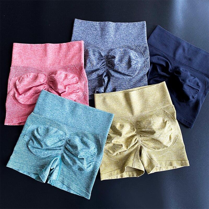Pantalones Cortos Deportivos Para Mujer, Mallas Push Up De Cintura Alta Para...