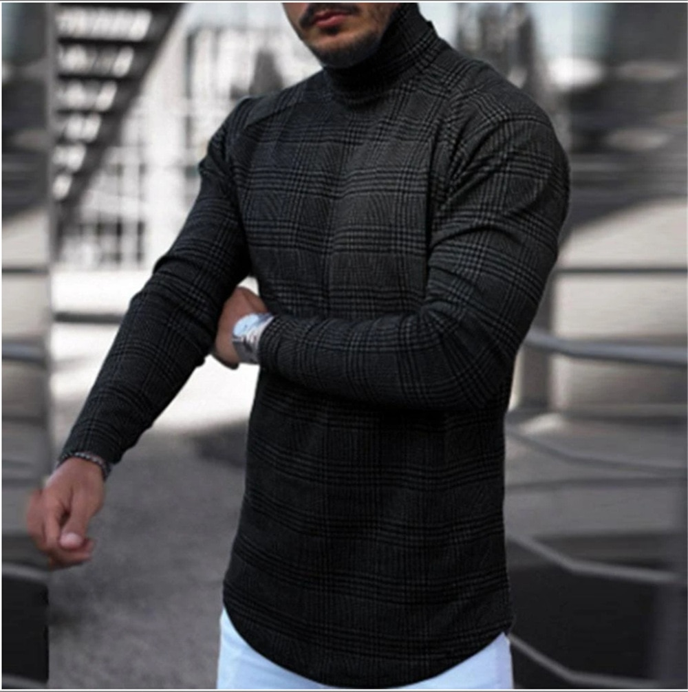 Autumn Spring Turtleneck Pullover Cotton Patchwork Long Sleeve  No Yq Slim Fit Clothes Knitted Casual Male Sweater girls sweater turtleneck knitted long sleeve kids clothes autumn 2018 casual children school uniform size 8 10 12 13 15 year