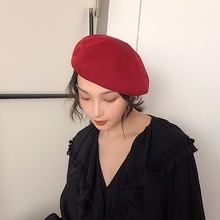 Hat Summer Thin Beret Female Spring and Autumn Japanese Simple Octagonal Cap Korean Style All-Match