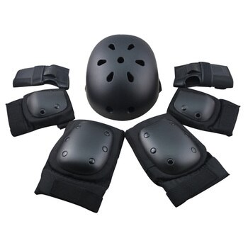 6 pieces Pads Elbow Wrist Knee Pad for Outdoor Sports Protective Kit Inline Speed Skating Racing Cycling Skateboard S M L XL400g