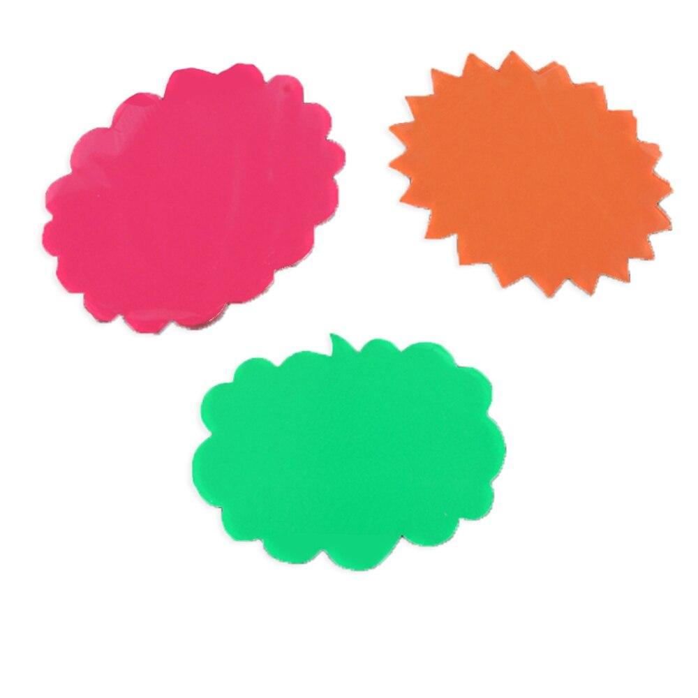 Яркий взрывобезопасный канал Цена тарелка цена товара флуоресцентный Поппер рекламная бумажная бирка ценовая этикетка карта