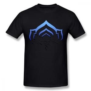 Warframe T Shirt Warframe Lotus Symbol T-Shirt Men Short Sleeves Tee Shirt Cute Print Beach Cotton Tshirt