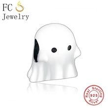 FC de la joyería de la marca Original pulsera de encanto 100% pulsera de plata 925 Boo fantasma de haciendo Navidad mujeres Berloque nueva llegada 2019