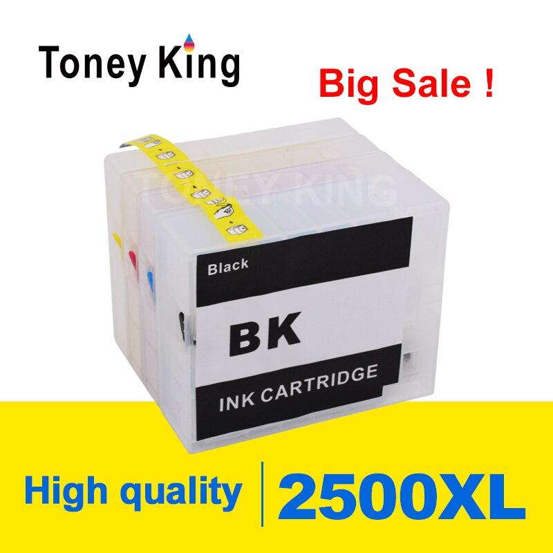 Cartucho de tinta recargable Toney King para Canon PGI-2500 MAXIFY IB4050 Ib4150 MB5050 MB5150 MB5150 MB5350 MB5450 impresora