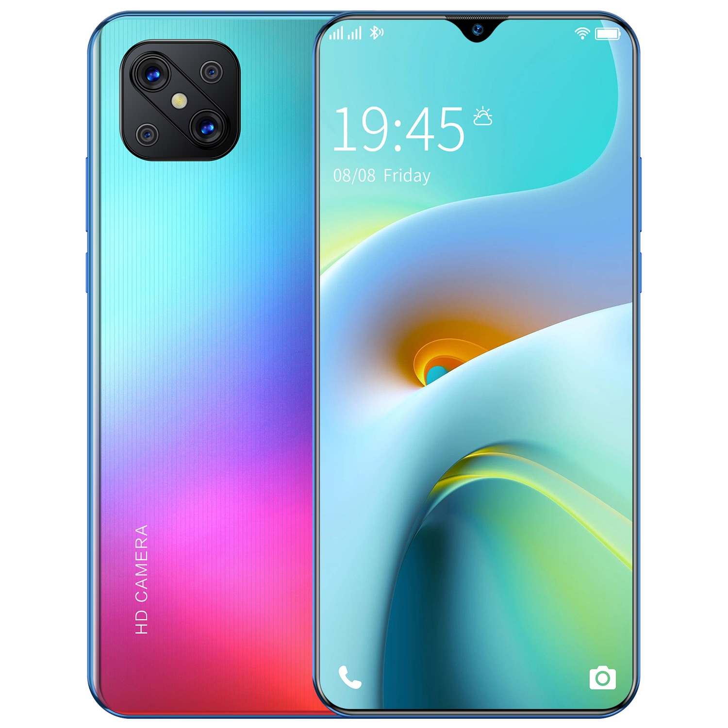 A92s 2021 Latest Smartphone 1GB RAM 8GB ROM 6.7inch Screen HD Camera 2800mAh Big Battery Mobile Android Cellphone Celulares