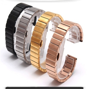 Watch Accessories Stainless Steel Strap Double Press Butterfly Buckle for GearS3 / Classic S2 Watchband 18/20/22 mm Replacement