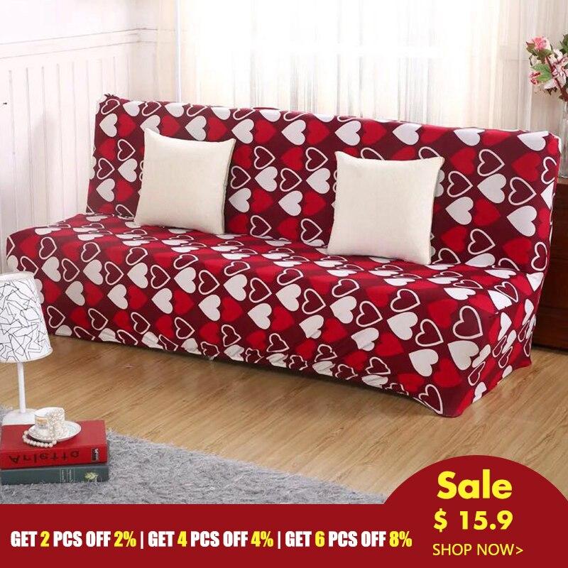 Funda de sofá cama, envolvente, plegable, envolvente, funda para sofá y toalla, funda de sofá sin reposabrazos, funda plegable Universal para sofá cama