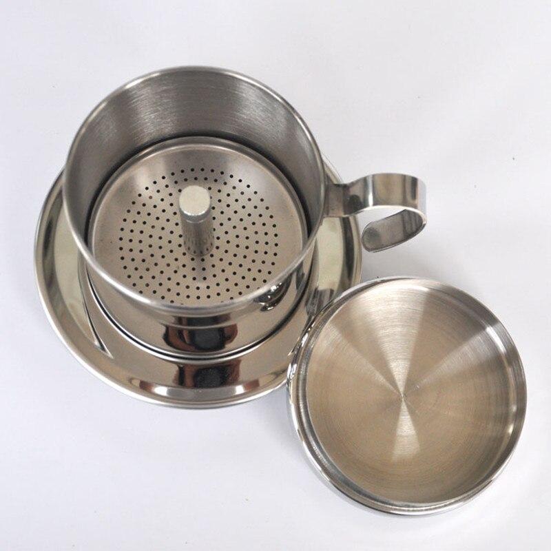 Портативный из нержавеющей стали Вьетнам кофе капельница многоразовый фильтр Вьетнам кофе капельного ГОРШОК v60 капельница вьетнамский кофе фильтр чашки