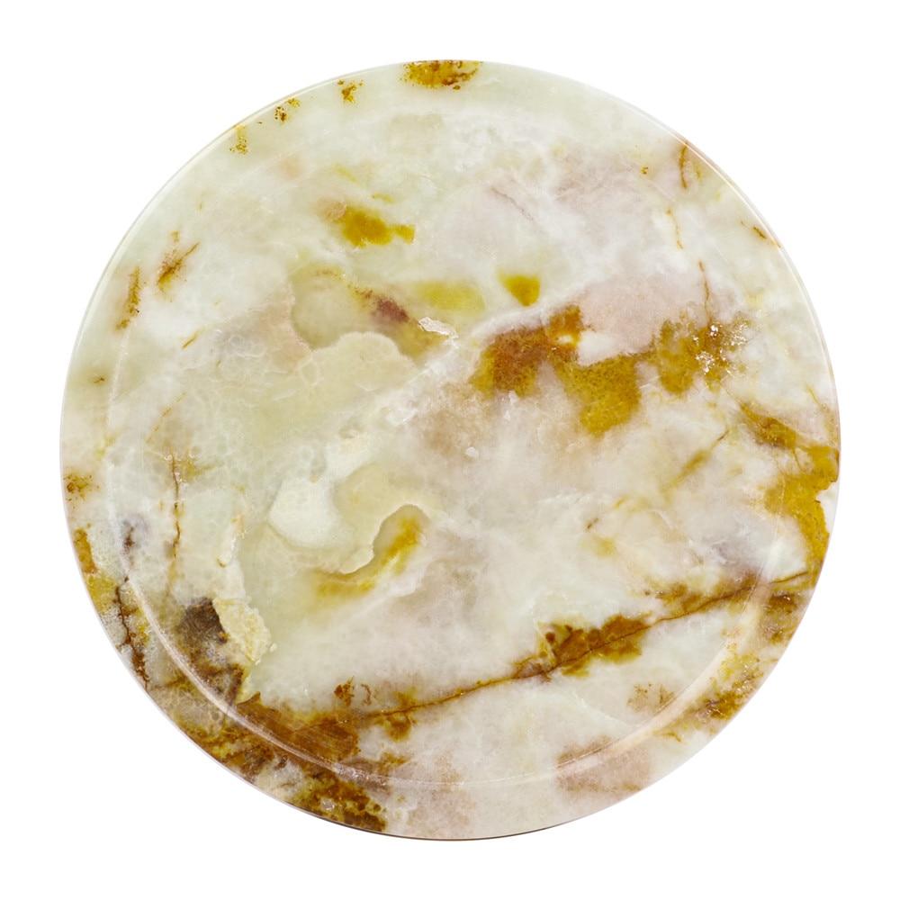 4 قطعة/المجموعة طبق حجري الطبيعي اليشم الكريستال الطبيعية الكوارتز كوستر القهوة الشاي المشروبات الساخنة مقاوم الحرارة
