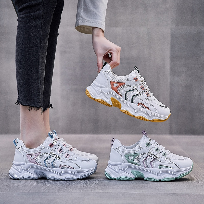 Old Daddy Shoes Women's Sneakers Spring 2021 New Korean Version of Breathable All-match Platform Sneakers