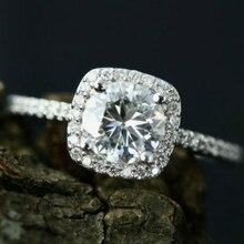 Kristal nişan sıcak satış yüzükler kadınlar için AAA beyaz zirkon kübik zarif yüzükler kadın düğün takısı