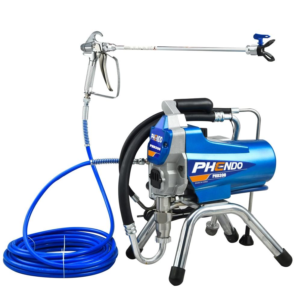 PHENDO 390 Airless Paint Sprayer Machine 1200W with Spray Gun Suit for Renovation Team Painter Home Improvement