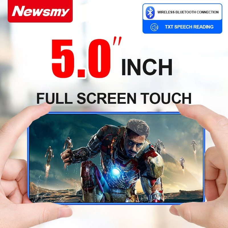 A1 WiFi MP4 Player 5.0 inch Android MP3 Bluetooth 5.0 MP5 Full Touch Screen 8GB E-Book HiFi Loseless Video Photo Music Players enlarge
