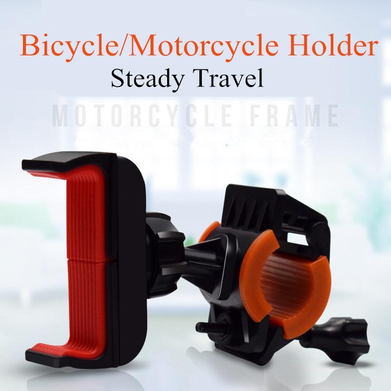 Universal Mobile Cell Phone Holder Bicycle Phone Holder Bike Handlebar Clip Stand GPS Mount Bracket Holder Anti Shake Shockproof