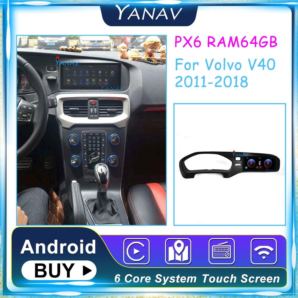 2 din Android coche autoradio estilo Tesla estéreo para Volvo V40 2011-2018...