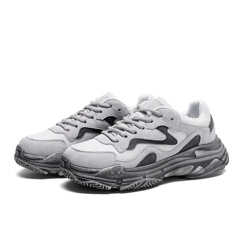 2019 primavera otoño mujer Zapatillas Zapatos casuales blanco encaje-up malla transpirable zapatos planos zapatos femeninos zapatos planos