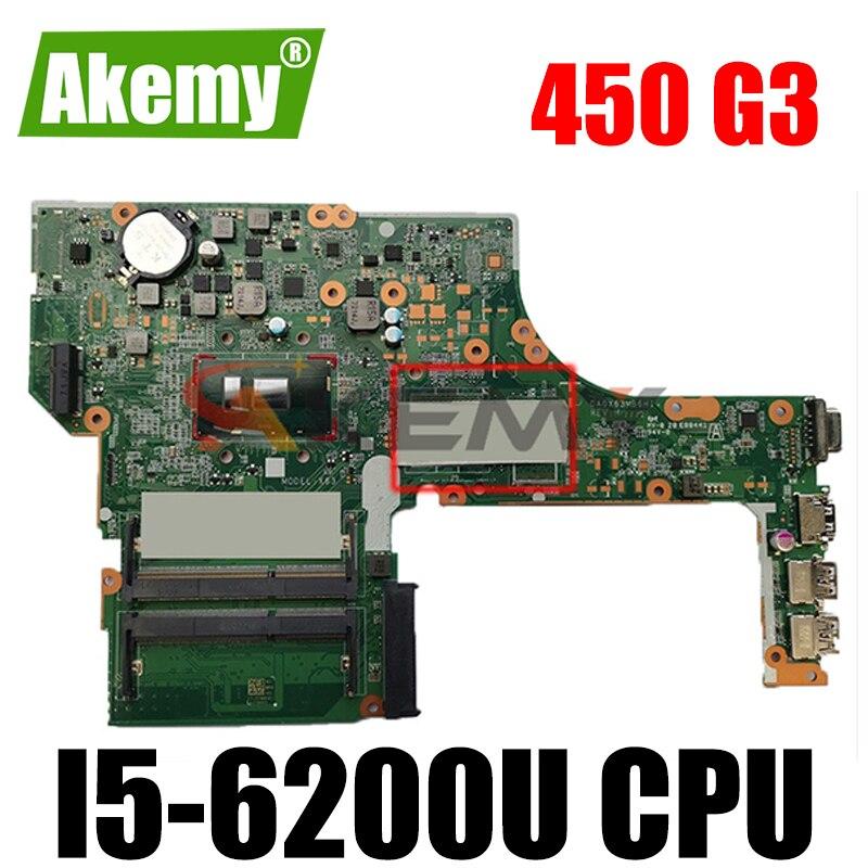 Akemy جديد ل hp 450 G3 اللوحة 901232-601 901232-001 901232-501 DA0X63MB6H1 اللوحة الرئيسية i5-6200U تعمل بشكل جيد