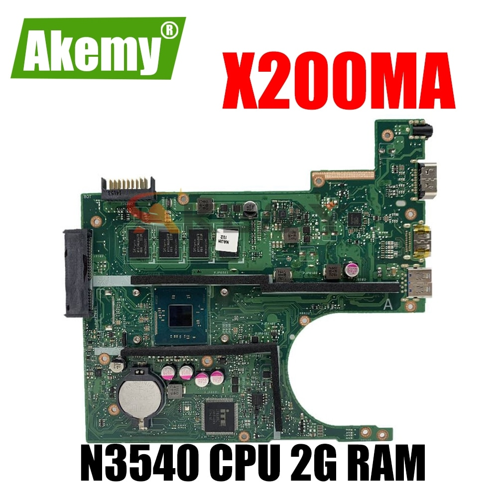 Akemy X200MA اللوحة الرئيسية ل Asus X200MA F200MA X200M F200M Laotop اللوحة ث/N3540 CPU 2G RAM