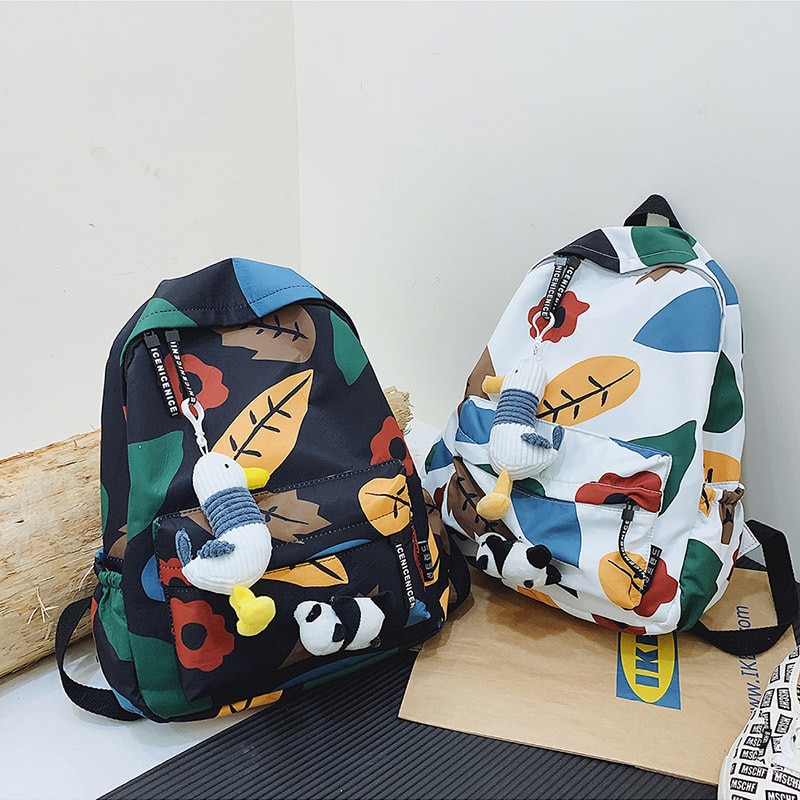 Floral Backpack Brand High Quality Waterproof Oxford Leisure Or Travel Bag Rural style Soft Light School Bag for Teenage Girls