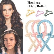 Heatless Curling Rod Headbands Hair Roller Silk Curling Ribbon Silk Curling Ribbon Heatless Hair Cur