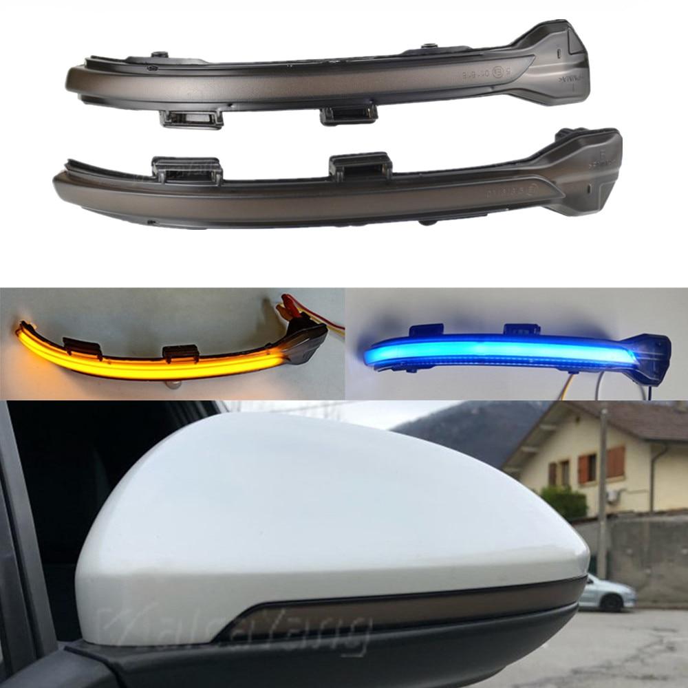 Accesorios de coche para VW Golf 7 MK7 GTI R GTD 2012-2018 TouranL intermitente dinámico LED intermitente luz indicadora de Retrovisor lateral