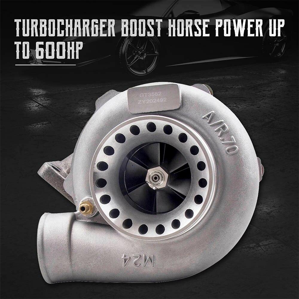 مكافحة عرام Turbolader GT3582 GT35 T3 شفة AR 0.63 المياه المبردة توربو ضاغط التوربينات شحان 400-600HP