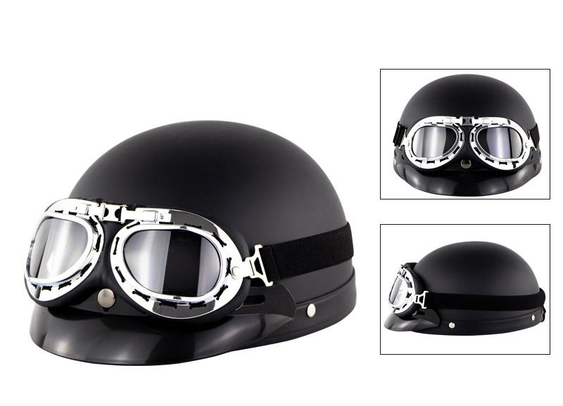 Unisex Motorcycle Helmet Open Face Half Helmet Outdoor Bike Riding Cafe Racer Protective Strong Safety Helmets with Glasses Hot mounchain lightweight unisex cycling helmet with detachable magnetic goggles aerodynamic helmet for motorcycle bike riding